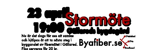Byafiber - Stormöte 23 april 2013