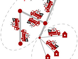 Fiber beskrivet som vägar och lastbilar