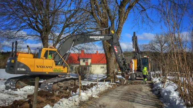 Grävning i Bonnaberg