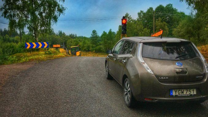 Trafikljus i skogen